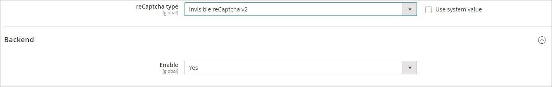 إعدادات تكوين Google reCAPTCHA فى ماجنتو 2